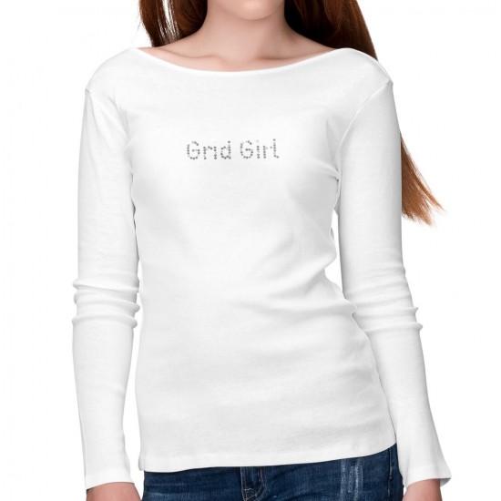 Noble luxury ladies shirt long sleeve - Grid Girl