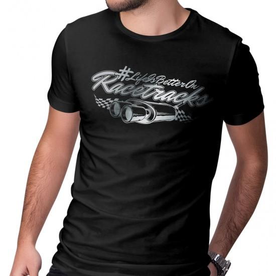 Motorsport Fan T-Shirt - LIFE IS BETTER ON RACETRACKS - REFLECTION SERIES