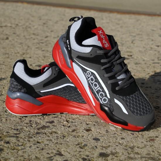 Sneaker Comfort - dark grey/red