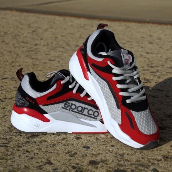 Sneaker Comfort - light grey/red
