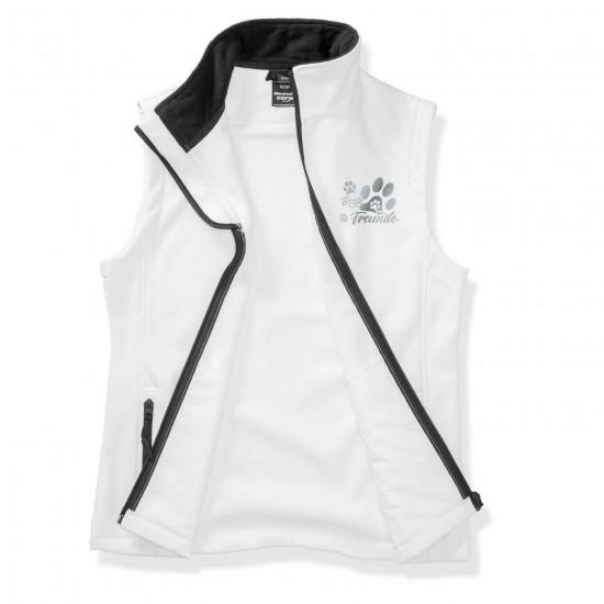 Dog Sport Vest - Softshell Vest with reflective design - white/black - REFLECTION SERIES