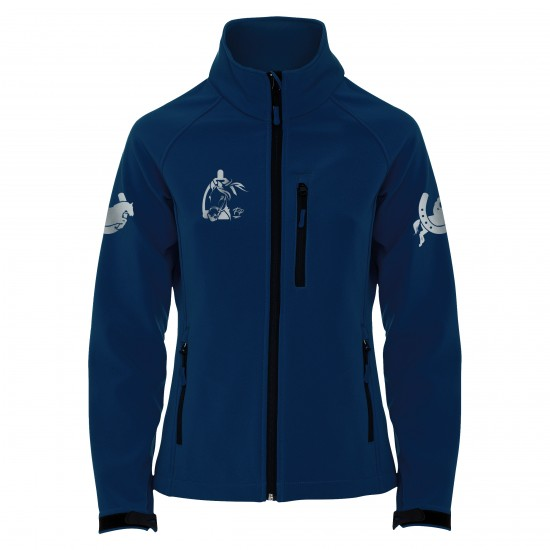 Riding jacket RIDE-PERFORMANCE RX CLASSIC - Softshell with reflective design - navy - REFLECTION SERIES