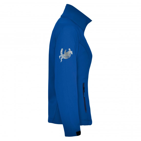 Riding jacket RIDE-PERFORMANCE RX CLASSIC - Softshell with reflective design - ROYAL BLUE - REFLECTION SERIES