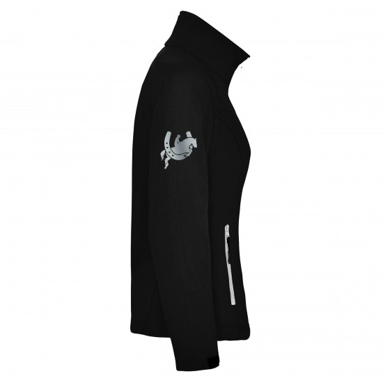 Riding jacket RIDE-PERFORMANCE RX CLASSIC - Softshell with reflective design - black - REFLECTION SERIES