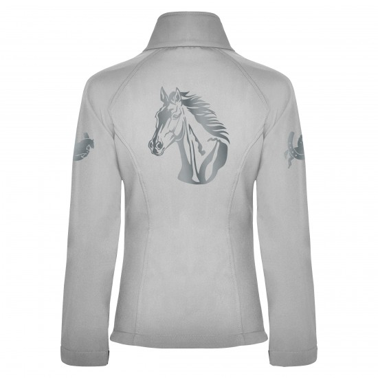 Riding jacket RIDE-PERFORMANCE RX CLASSIC - Softshell with reflective design - Pearl White - REFLECTION SERIES