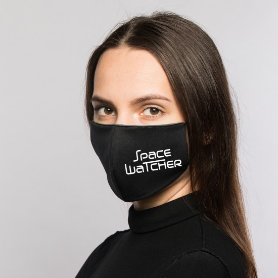 SPACEWATCHER reflective all day face mask, reusable, washable -Black- - REFLECTION SERIES