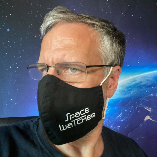 SPACEWATCHER all day face mask, reusable, washable -Black-